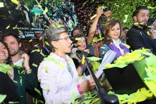 «¡Nos unimos, ganamos e hicimos historia!»: Claudia López